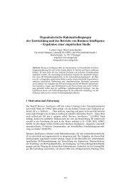 Organisatorische Rahmenbedingungen der Entwicklung und des ...