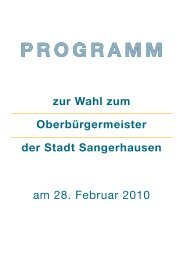 Wahlprogramm Ralf Poschmann - cdu sangerhausen