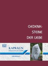 GEDENK- STEINE DER LIEBE - Natursteinwerk Kapraun