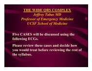 THE WIDE QRS COMPLEX Jeffrey Tabas MD Professor of ...