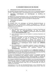 Angaben in Bezug auf die Anleihe und das Angebot / Kapitel IX