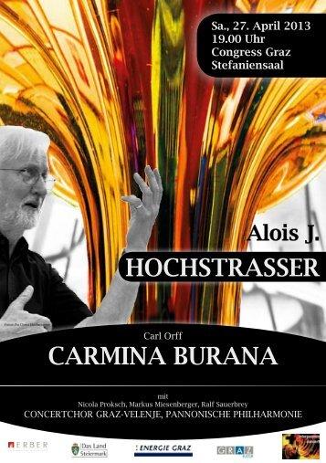 hochstrAsser cArMINA BUrANA - Alois J. Hochstrasser