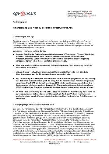 Finanzierung und Ausbau der Bahninfrastruktur (FABI)