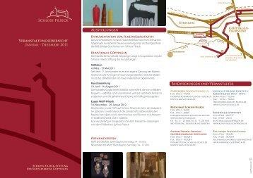 Programm für 2011 - Schloss-Filseck-Stiftung der Kreissparkasse ...