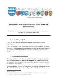1. März 2012 (Elternbrief): Gesetzliche Grundlagen für die Arbeit der ...