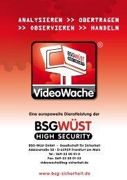 Eine europaweite Dienstleistung der - BSG Sicherheit