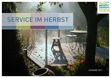 """Broschüre """"Service im Herbst 2011"""" - Schleitzer baut Gärten"""