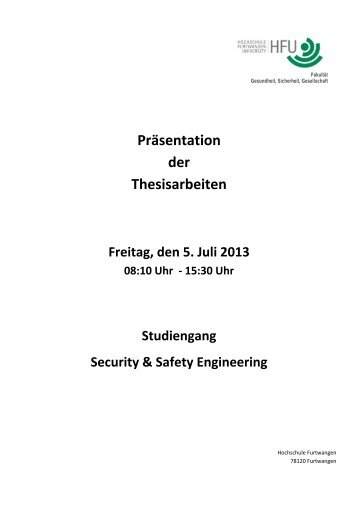 thesis hs furtwangen