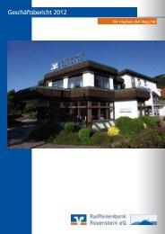 Geschäftsbericht 2012 - Raiffeisenbank Rosenstein eG