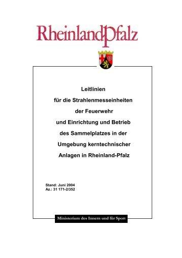 Leitlinien für die Strahlenmesseinheiten - Aufsichts - in Rheinland ...
