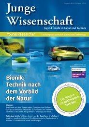 Download Leseprobe 85 als PDF - Junge Wissenschaft