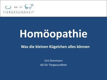 vortrag homöopathie.pdf - AG für Tiergesundheit