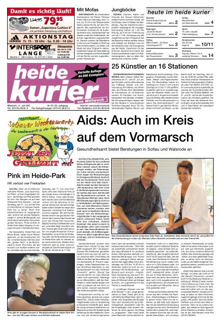Aids: Auch im Kreis auf dem Vormarsch Heide Kurier