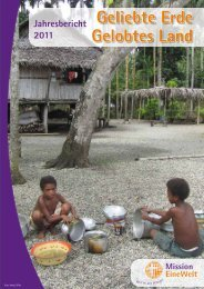 Jahresbericht 2011 herunterladen - Mission Einewelt