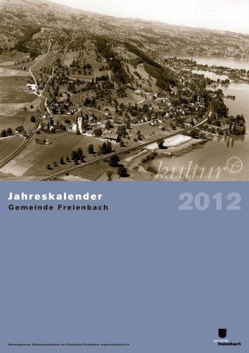 Historischer Kalender 2012 - Gemeinde Freienbach