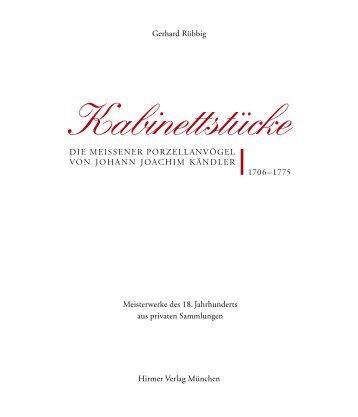 Leseprobe als PDF - Kabinettstücke - Ausstellung im Amira-Palais