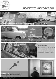 Rollermobilclub Newsletter No. 11 – 2011 - Rollermobilclub Schweiz