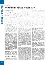 Hebammen versus Frauenärzte - Frauenarzt
