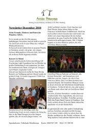 Newsletter Dezember 2010 - Acción Humana