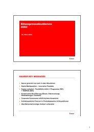 Bilanzpressekonferenz 2002 - Oerlikon Barmag