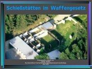 Vortrag über waffenrechtliche Bestimmungen bei ... - Ing. Dieter Stiefel
