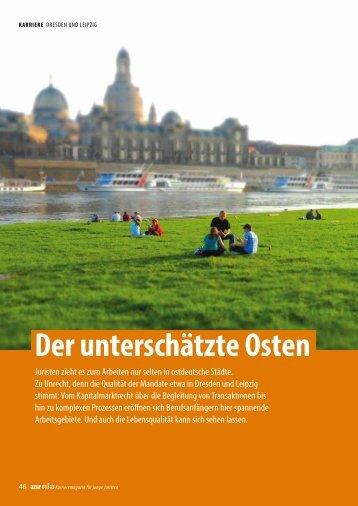 Beitrag von JUVE-Redakteurin Silke Brünger in azur 01 | 2013