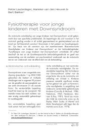 Fysiotherapie voor jonge kinderen met Downsyndroom