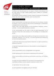 VILLA BASTA ZOEKT ORGANISATORISCH MEDEWERKER (M/V)