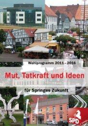 Unser Wahlprogramm 2011 - 2016 - SPD-Ortsverein Springe
