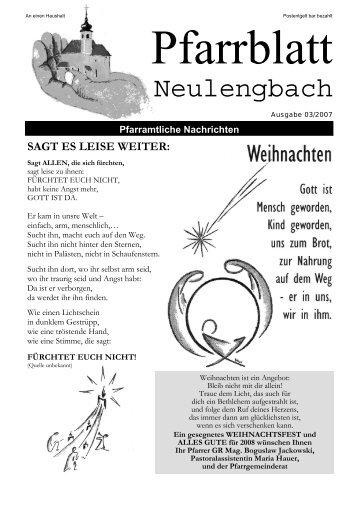 1,06 MB PDF in neuem Fenster öffnen - Pfarre Neulengbach