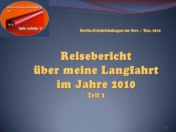 Langfahrt 2010 Teil 2 - heinz-haase-fahrtensegeln