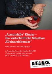 """""""Armutsfalle"""" Kinder - Fraktion DIE LINKE im Sächsischen Landtag"""