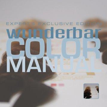 color manual - pdf - wunderbar