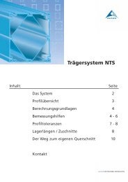 Trägersystem NTS - easy systems