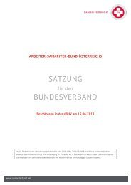 SATZUNG BUNDESVERBAND - Arbeiter-Samariter-Bund Österreichs