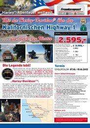 Kalifornischer Highway Oktober 2012 - Lesershop