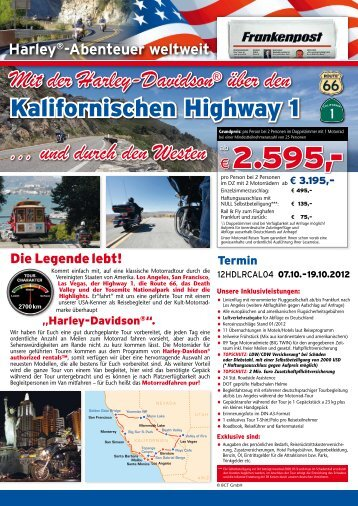 Kalifornischer Highway Oktober 2012 - Lesershop