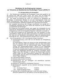 Richtlinien für die Erteilung der Lizenzen - Handball Bundesliga ...