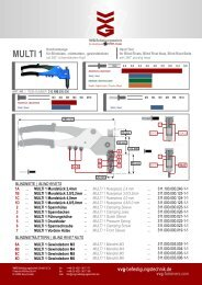 multi 1 - VVG Befestigungstechnik GmbH & Co