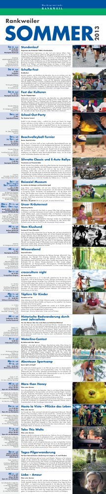 """Folder """"Rankweiler Sommer"""" - Marktgemeinde Rankweil"""