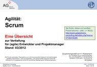 PECO: Scrum-Übersicht, (C) Peterjohann Consulting, 2013