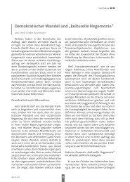 """Demokratischer Wandel und """"kulturelle Hegemonie"""" - Spw"""