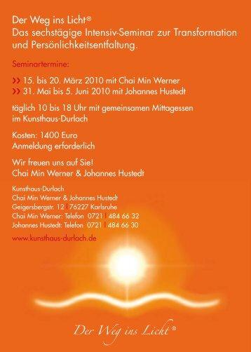 Der Weg ins Licht® Das sechstägige Intensiv-Seminar zur ...