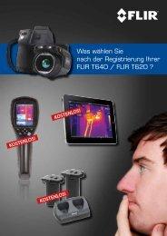 Was wählen Sie nach der Registrierung Ihrer FLIR T640 / FLIR T620 ?