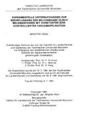 Experimentelle Untersuchungen zur Beeinflussung der ...