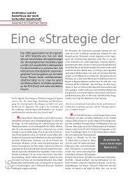 Eine «Strategie der - terra cognita