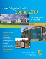 Chabot College   Class Schedule   Spring 2010 Spring 2010