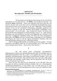 OFFICIUM Das imperative Mandat zum ... - Kirchenbauverein