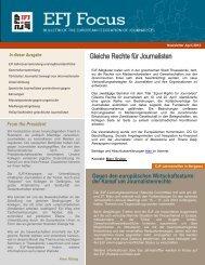 EFJ NEWS - International Federation of Journalists