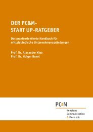 der pc&m- start up-ratgeber - Pensions Communication & More